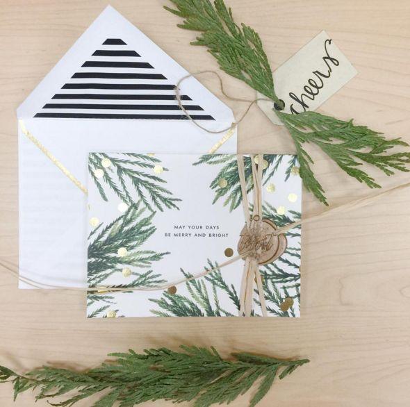 Kartki świąteczne DIY, ręcznie robione kartki świąteczne, fot. instagram.com/toast.events