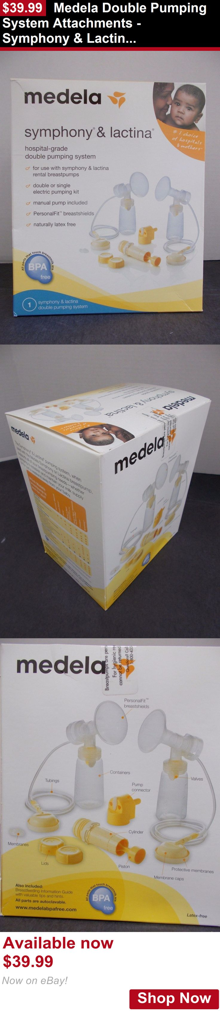 Breastfeeding Supplies: Medela Double Pumping System Attachments - Symphony And Lactina BUY IT NOW ONLY: $39.99
