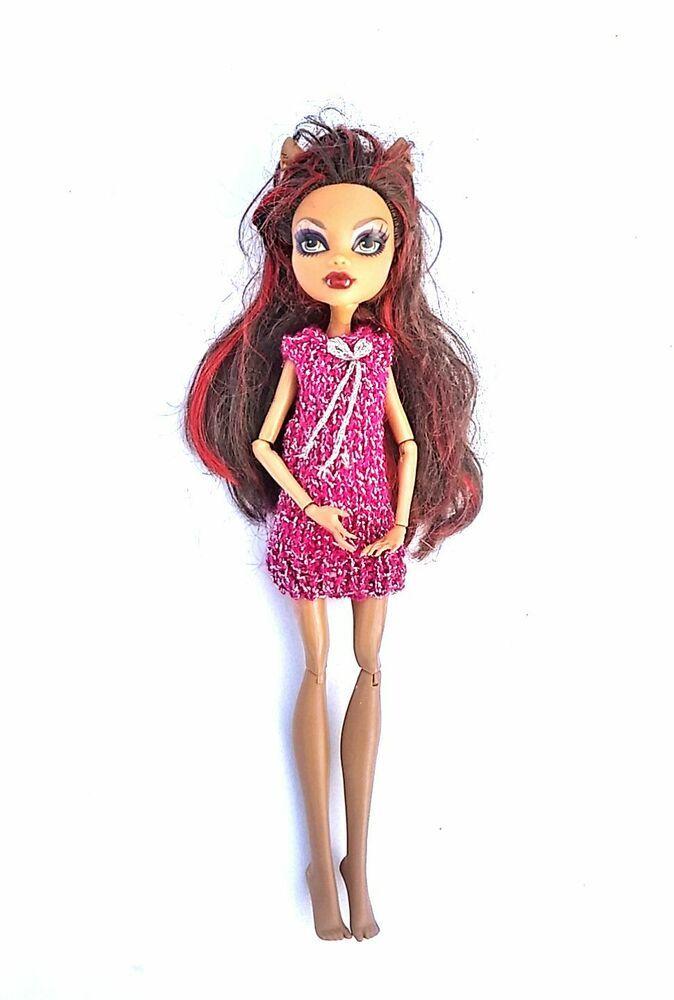 Knit Dress For Doll Monster High Handmade Doll Clothes 1 Nutka Art In 2020 Doll Clothes Dolls Handmade Knit Dress