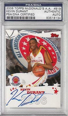 2006 Topps Mcdonalds All American Kevin Durant Rc Auto Certified Rare Sp - PSA/DNA Certified - Basketball Autographed Cards *** For more information, visit image link.