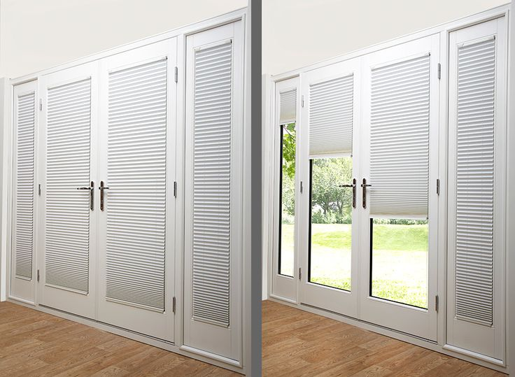 Alluring French Door Blinds