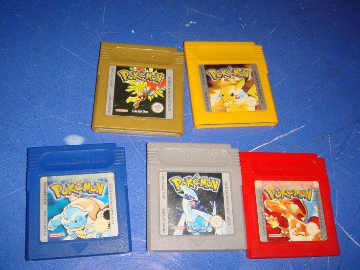 Pokemon 5 juegos Amarillo-rojo-Edicion Plata-azul-Edicion oro-gameboy color
