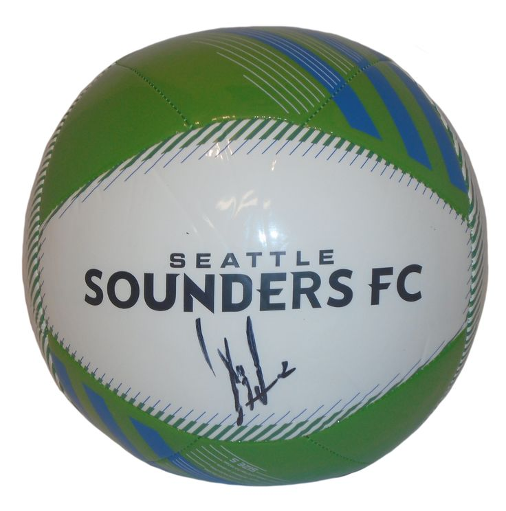 Clint Dempsey Autographed Adidas Seattle Sounders FC Logo Soccer Ball, Proof Photo