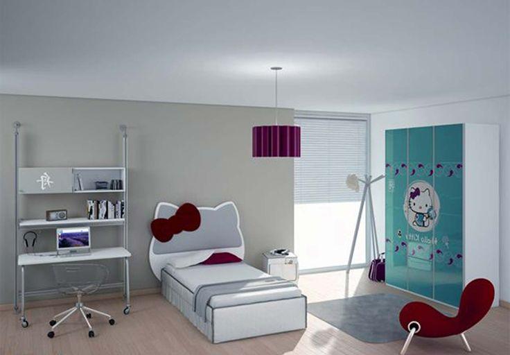 Hello Kitty Room Design Ideas ~ http://www.lookmyhomes.com/hello-kitty-room-designs-ideas-for-girl/