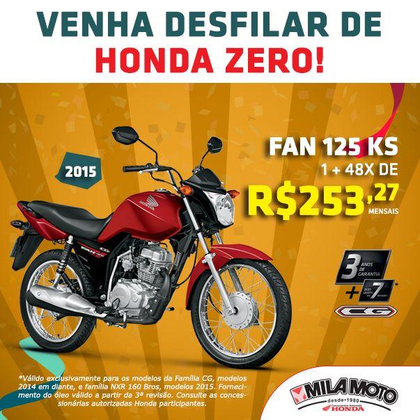 Anúncio CG Fan 125 KS criado pela Agência Baloodesign para a Mila Moto.  #baloodesign #jundiai #publicidade #marketing #saopaulo #honda #cg125 #fanks