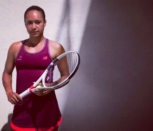 New Balance's collection for the 2018 Australian Open, as seen on Heather Watson