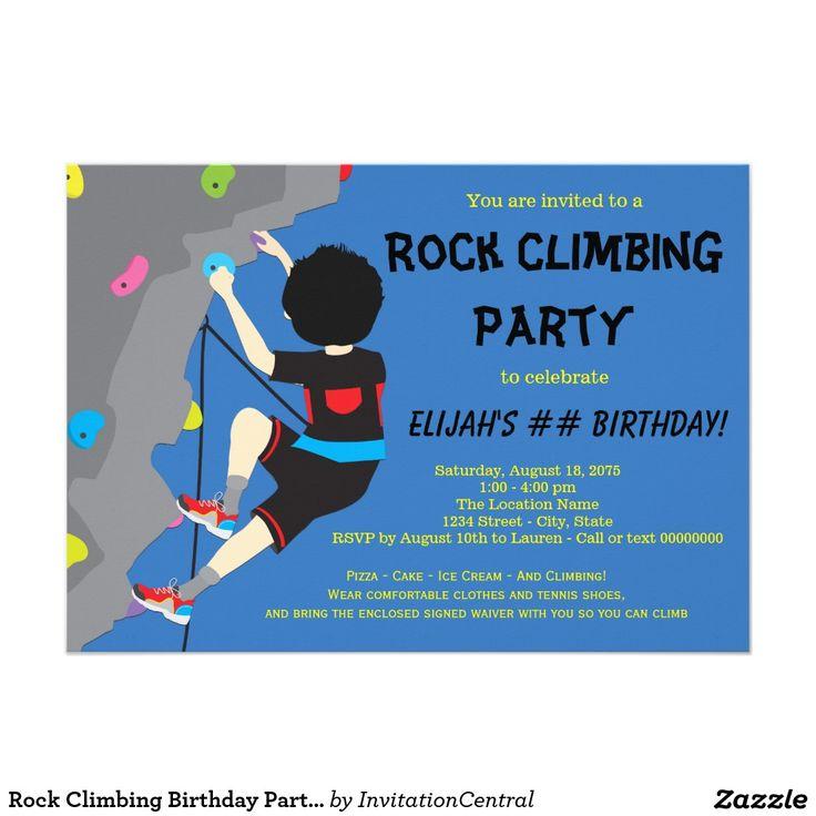 27 best Rock climbing birthday images on Pinterest | Birthday ...