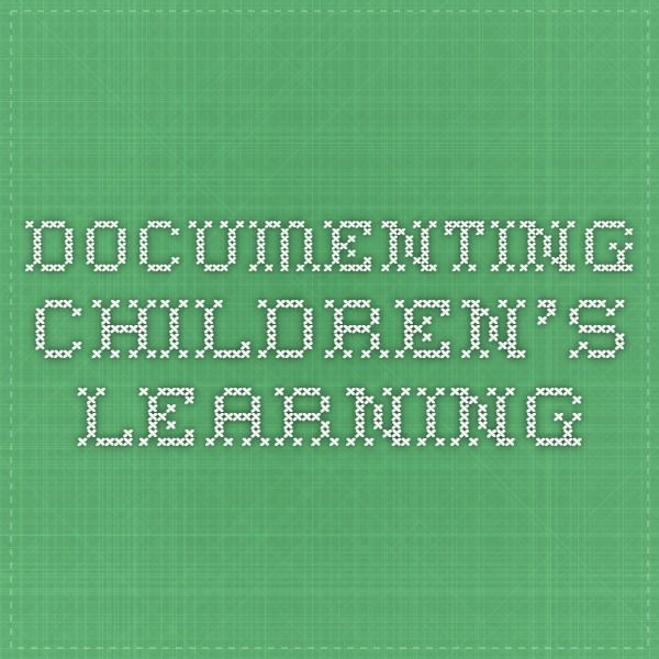 Documenting children's learning - ACECQA