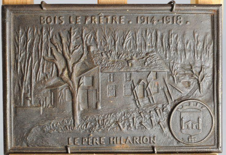 PLAQUE METAL FONTE ? BOIS LE PRÊTRE 1914 1918 BAS RELIEF PERE HILARION MILITARIA | eBay