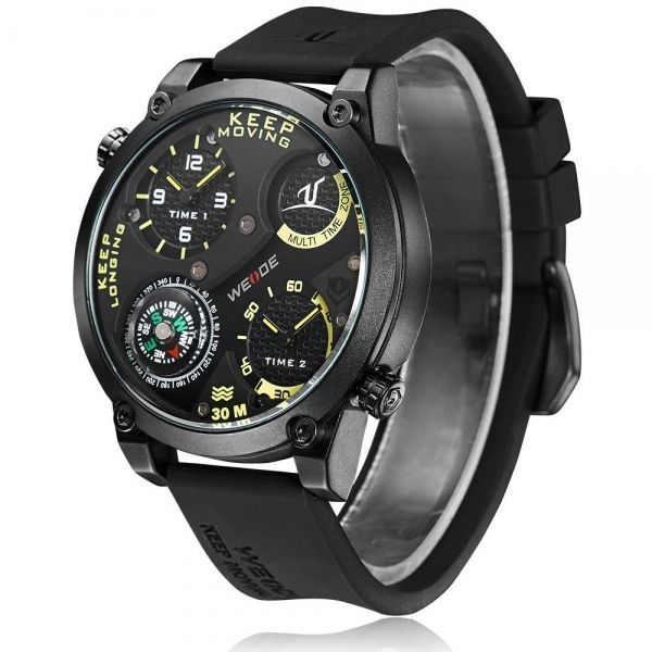 CURREN8194 Round Case Three-Subdial Date Display Quartz Men Wrist Watch Black & http://www.thesterlingsilver.com/product/1512742-hugo-boss-mens-watch-analogue-quartz-black-dial-silicone-strap/
