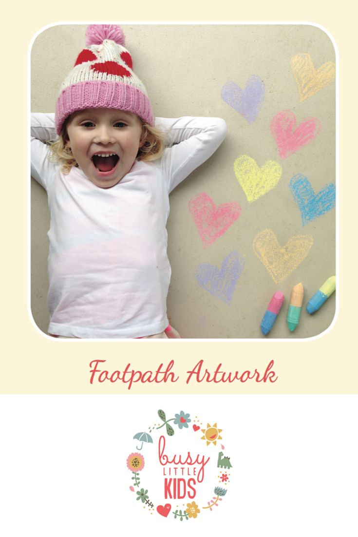 Fun, simple, easy sunny day kids activity - Footpath Artwork