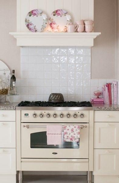 cream range cooker