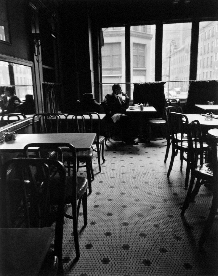 Lafayette Hotel  Greenwich Village New York 1948 Photo: Berenice Abbott. #Cafe