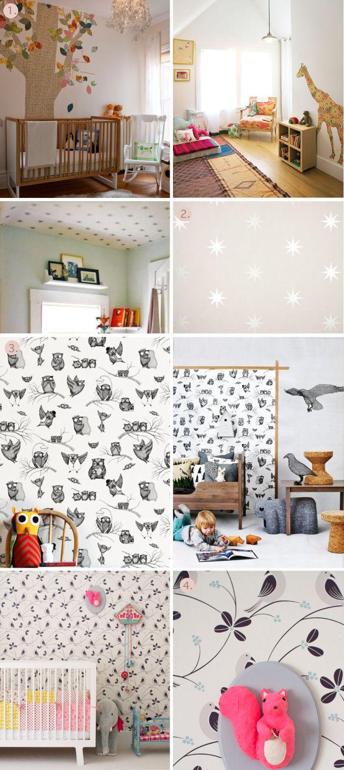 Wallpaper for our little one's bedroom: Jaina S Room, One S Bedroom, Mushroom Blog, Ceiling, Baby Ideas, Baby Room, Kids Art Decor Ideas, Kid Stuff, Kids Rooms