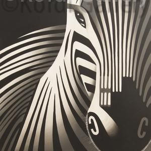 Lukisan Modern Minimalis Zebra (80cmX60cm)