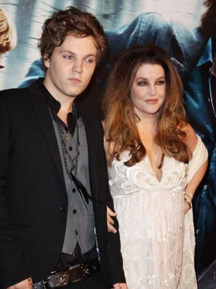 {*Lisa Marie Presley & the only grandson of Elvis Presley, Benjamin Keough*}