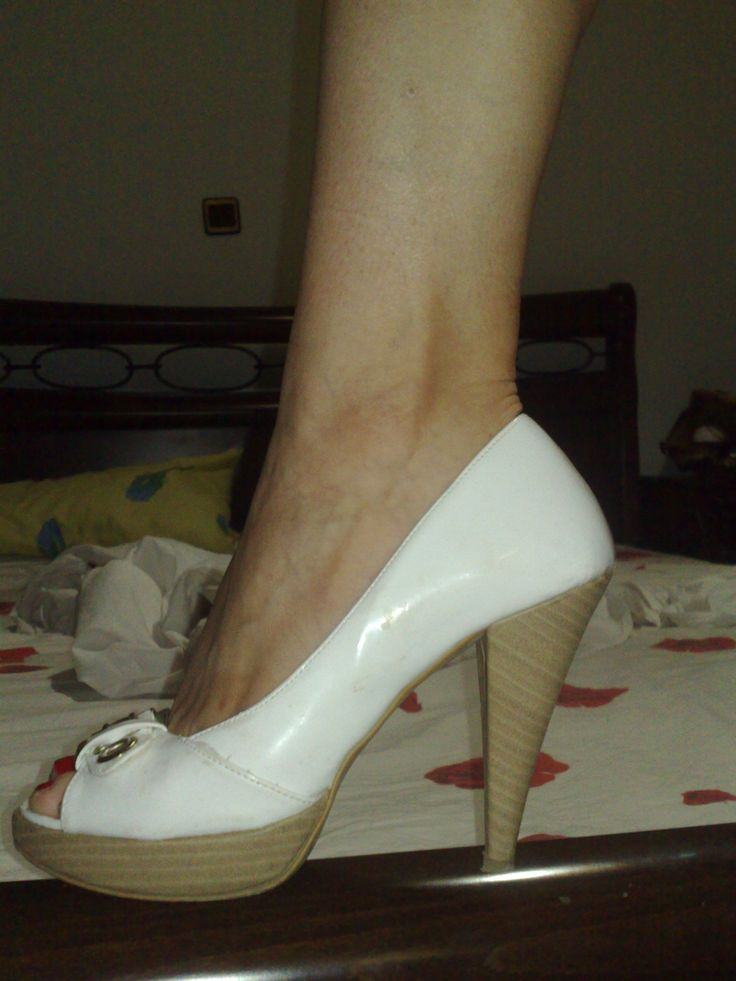 white heel from greek designer. So cute and comfortable for walking all day