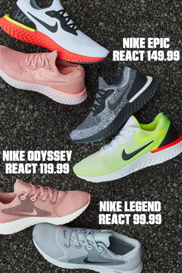 size 40 716de f8d0e Get that soft, springy, lightweight feeling everyones talking about with  the Nike Epic React