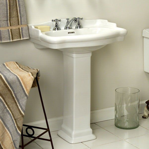 Stanford Pedestal Sink   Bathroom Sinks   BathroomSmall: L X W (front To  Back) X H (± Basin Dimensions L X W (front To Back) X H (±
