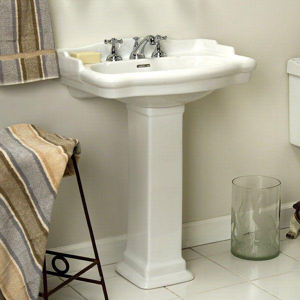 Stanford Pedestal Sink   Bathroom Sinks   BathroomSmall: L X W (front To  Back) X H (± Basin Dimensions L X W (front To Back) X H (±