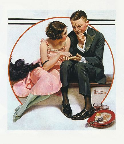 1921-Fortune Teller, Post cover - by Norman Rockwell
