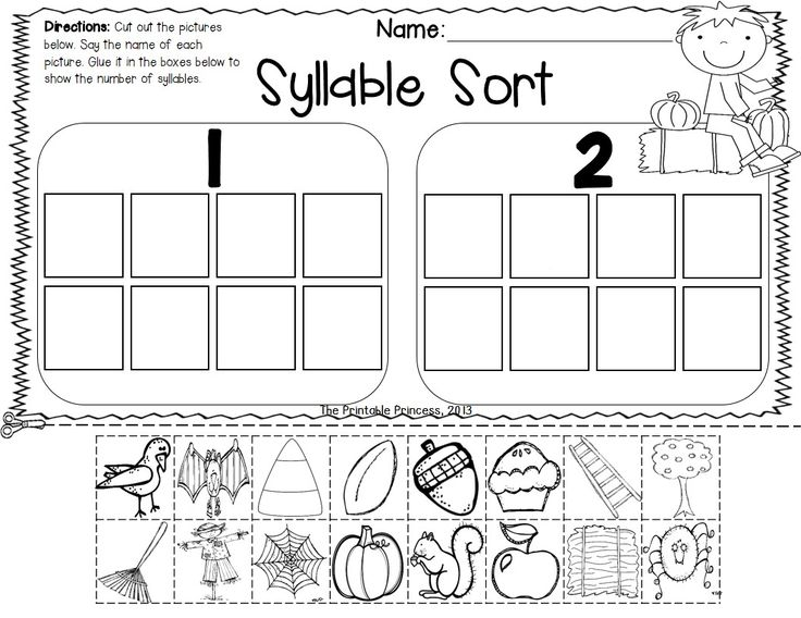 syllable worksheets kindergarten syllable count and color teacherlingo falling for syllables a. Black Bedroom Furniture Sets. Home Design Ideas