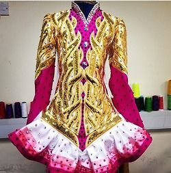 Irish Dance Solo Dress by Celtic Star. I like the ombre effect along the bottom of the skirt