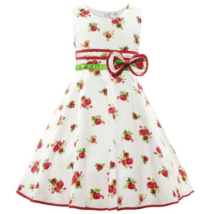 Summer Girls Dress Kids Cotton Floral Sundress Children Casual Beach Dresses Child Princess Frocks Fancy Girl Costume for 2-10Y #Affiliate