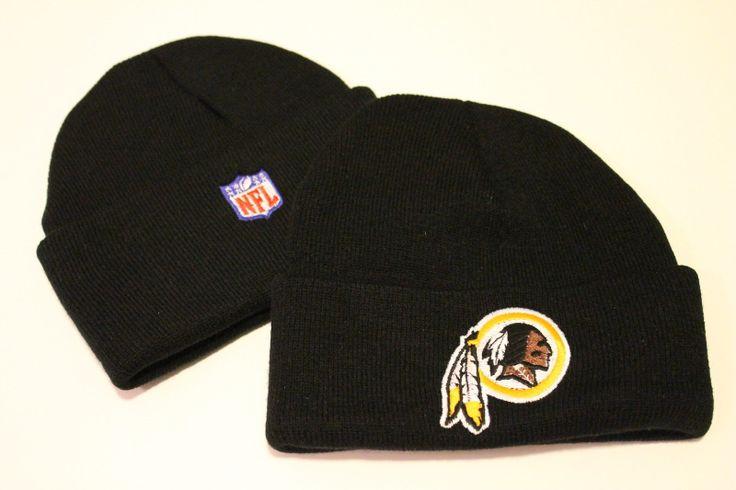New NFL Washington Redskins BLACK winter skull cap hat Embroidery Logo