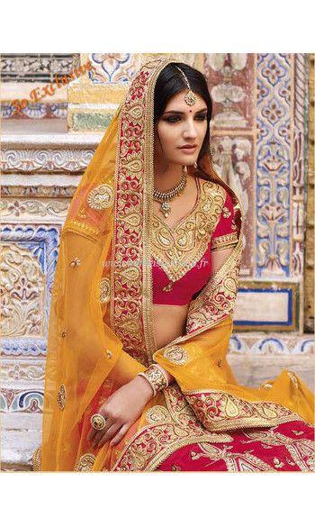 lehenga mari e shivani rouge robe indienne haute couture On robes de mariée indienne new jersey