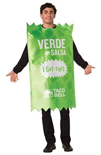 Taco Bell Sauce Packet Verde Costume, Adult One Size Rast