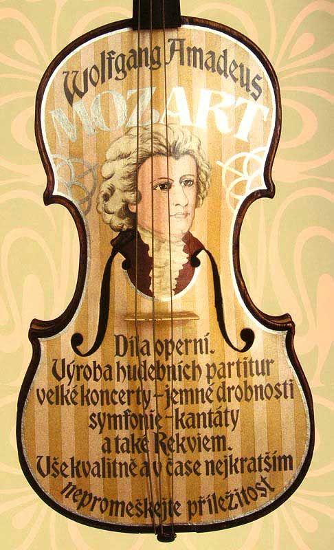 painting violin by Mirka V.