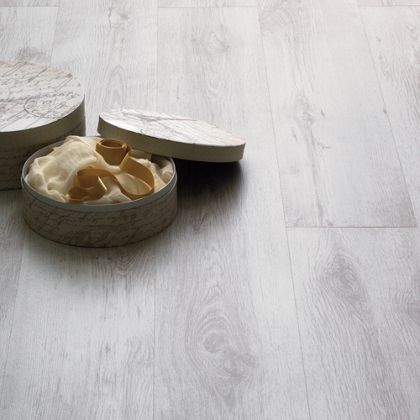 Home of Style Textured White Laminate Flooring - 2.13 sq m per pack
