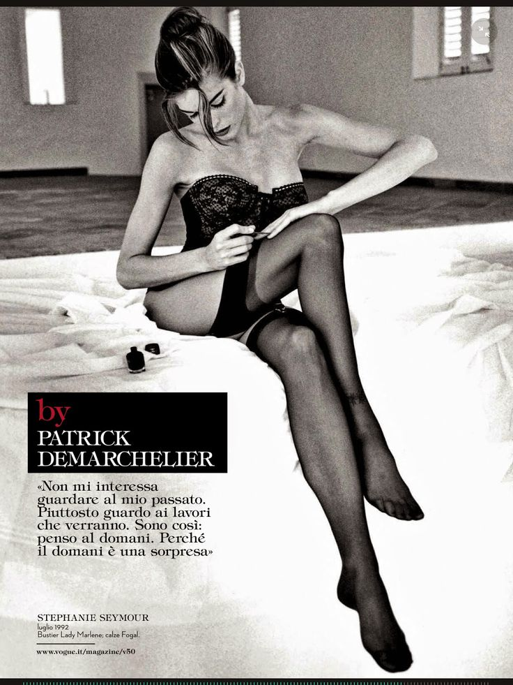 Vogue Italia Sept 2014: The Portfolio: Stephanie Seymour by Patrick Demarchelier