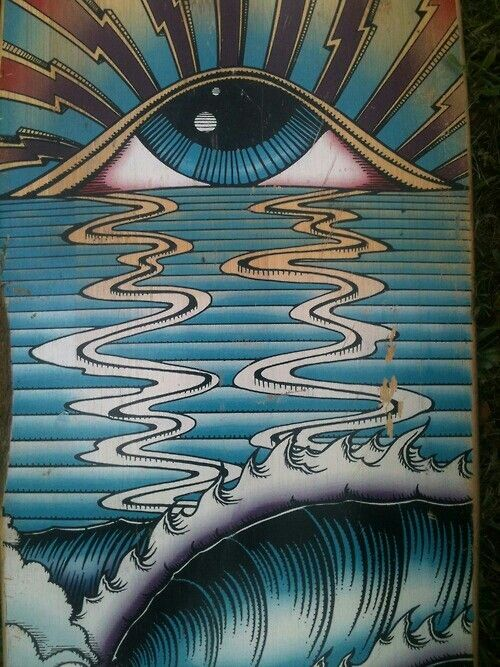Third Eye // Black Hole Sun // Sunset over Water // Visionary Psychedelic Trippy Art