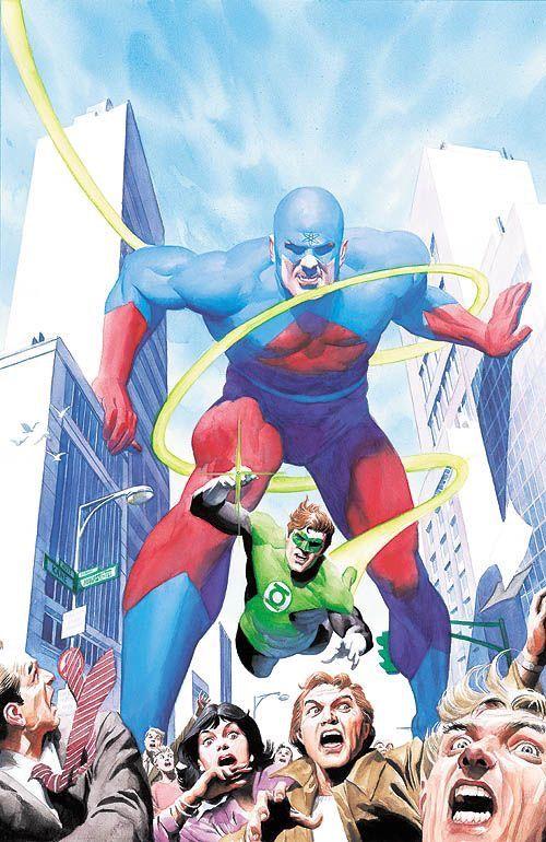 Átom & Lanterna Verde de Alex Ross.