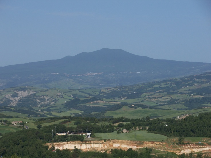 Monte Amiata, Tuscany. Ancient volcano, highest point in region, nice for picnics.
