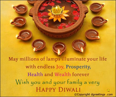 18 best diwali cards images on pinterest diwali cards business may millions of lamps illuminate your life with endless joy prosperity health and wealth forever wish you and your family a very happy diwali free online m4hsunfo
