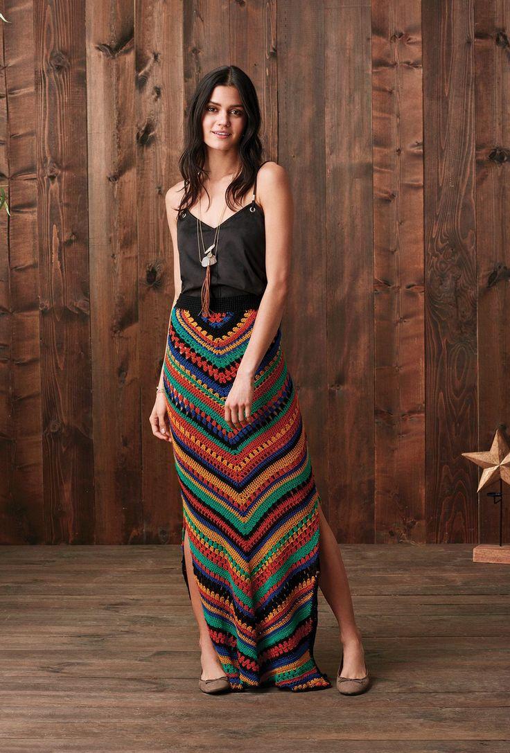 Moda étnica espaçamento agora a pé, simplesmente demais , feito para você 1 #crochê #crochêpassoapasso #tapetedecrochê #crochêmode… | Crochet skirts, Crochet fashion, Crochet clothes