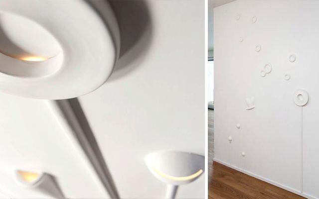 Iluminación de casas con apliques decorativos para las paredes