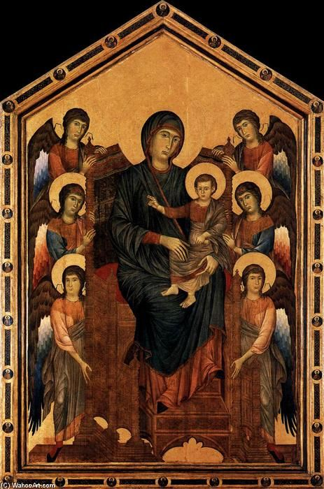 Virgin Enthroned with Angels