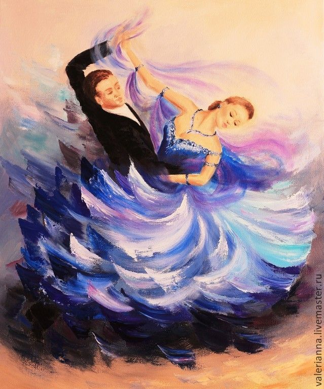 Купить Картина Венский вальс - танец, бальные танцы, Танцовщица, масляная живопись, мастихин