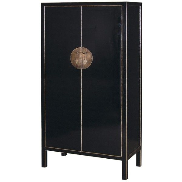High Quality Oriental Lacquered Wardrobe In Black (2 180 AUD) ❤ Liked On Polyvore  Featuring Home