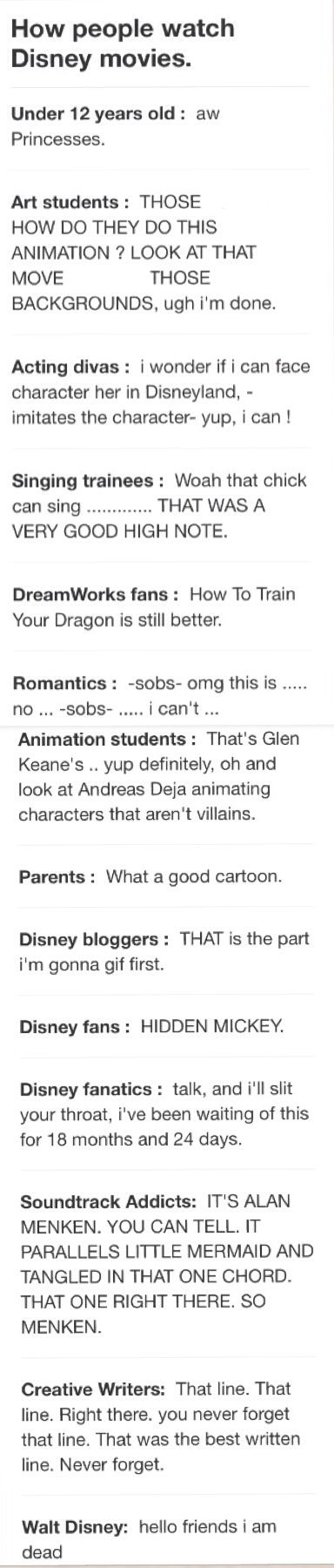 WHOA THIS IS THE MOST ACCURATE POST EVER POSTED i am part of the art students, animation students, disney bloggers, disney fanatics, and creative writers because i have done all of those