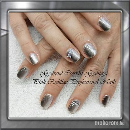 Silver ombre nail art