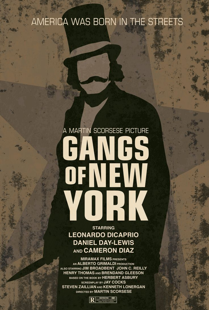 Gangs of New York Movie Poster http://www.flickr.com/photos/79273618@N03/7263874880/sizes/k/