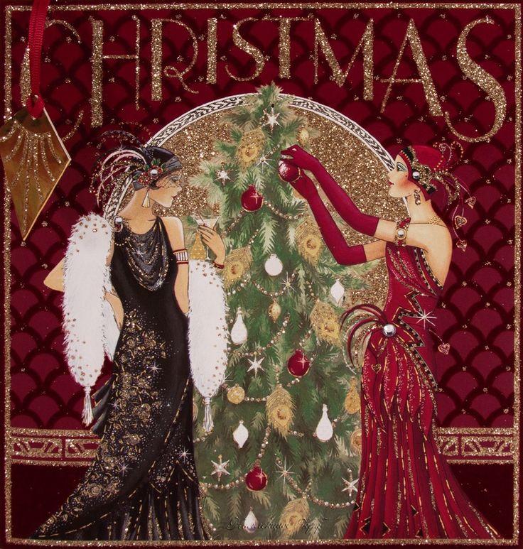 Art Deco Lady~ Decorating Christmas Tree