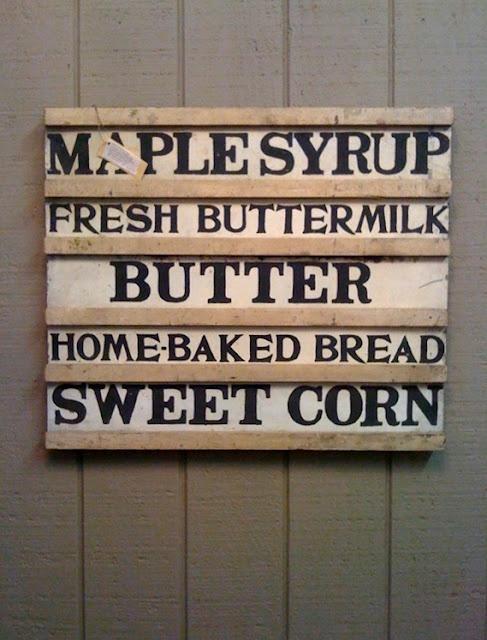 antique farm stand signFarmhouse Decor, Farmhouse Signs, Antiques Farms, Maple Syrup, Frogs, Antiques Signs, Farmhouse Kitchens Signs, Fresh Buttermilk, Farms Stands