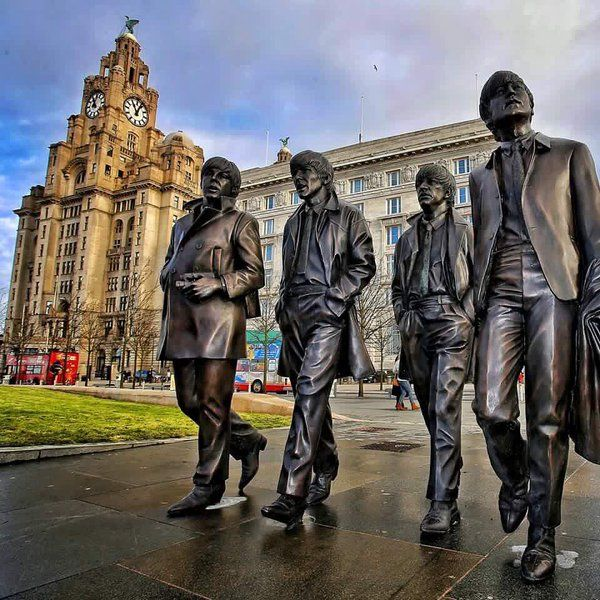 Statues of The Beatles in Liverpool, 2015
