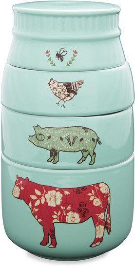 Farm Animals Mason Jar Measuring Cups
